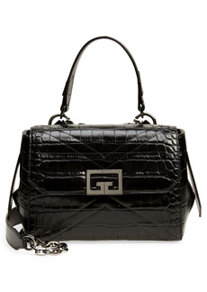 Givenchy Small ID Croc Embossed Leather Bag