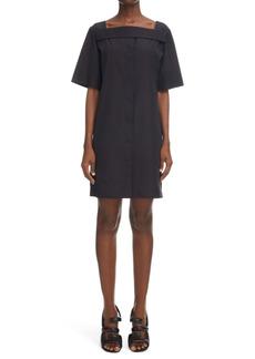 Givenchy Square Neck Short Cotton Dress