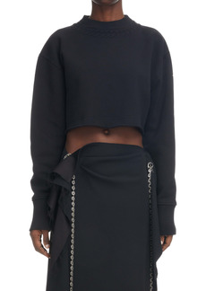 Givenchy Trompe l'Oeil Crop Cotton Sweatshirt