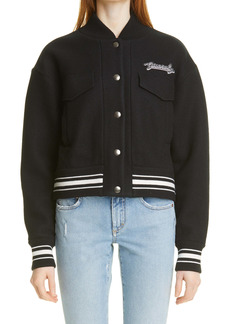 Givenchy Wool Crop Bomber Jacket