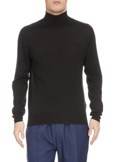 Givenchy Wool, Silk & Cashmere Mock Neck Sweater