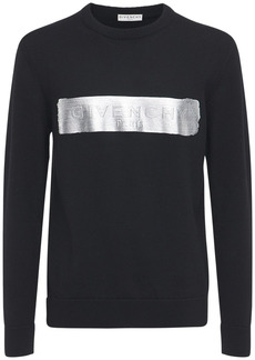 Givenchy Latex Logo Knit Wool Sweater
