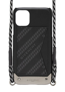 Givenchy Logo Chain Iphone 11 Cover W/ Lanyard