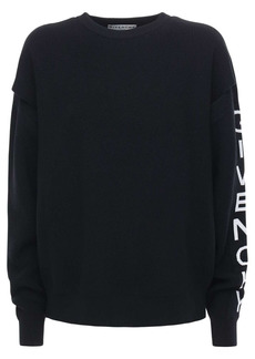 Givenchy Oversize Logo Wool Blend Knit Sweater