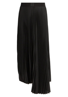 Givenchy Pleated Logo Waistband Skirt