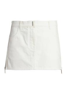 Givenchy Side Zip Denim Mini Skirt