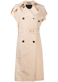 Givenchy sleeveless double-breasted trench