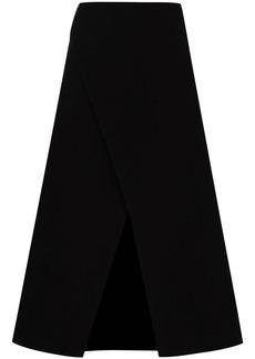 Givenchy wraparound-style midi skirt