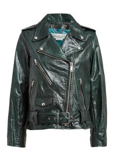 Golden Goose Chiodo Oversized Leather Moto Jacket