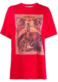 Golden Goose cowboy graphic print oversized T-shirt