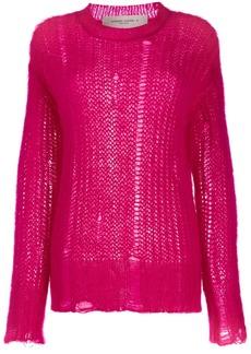 Golden Goose distressed-effect knitted jumper