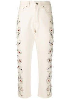 Golden Goose embellished cropped jeans