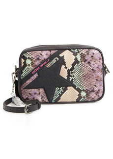 Golden Goose Star Snake Embossed Leather Camera Bag