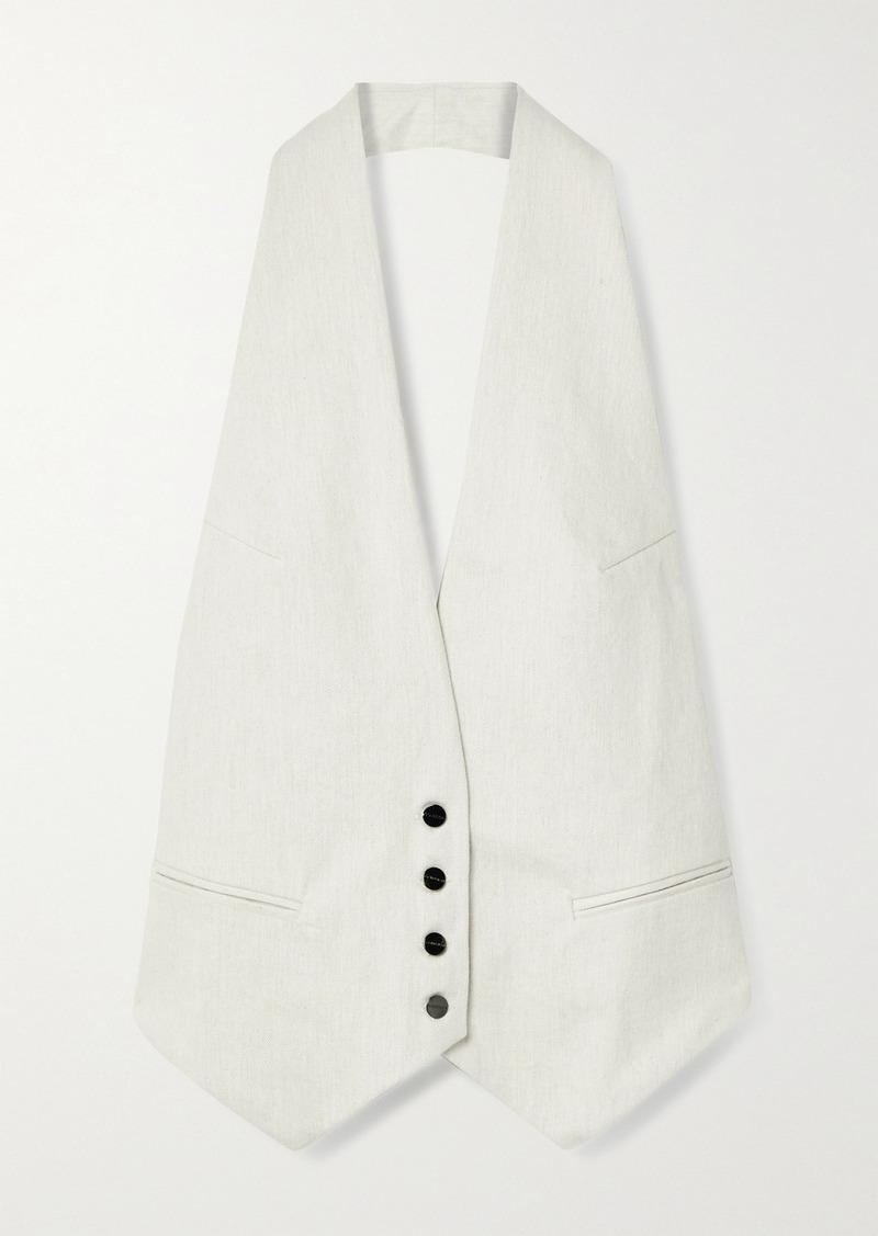 Goldsign Open-back Cotton-twill Halterneck Vest