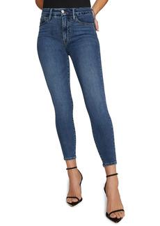 Good American Extreme V High Waist Ankle Skinny Jeans (Blue 615)