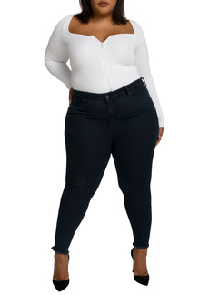 Good American Good Legs High Rise Ankle Cropped Jeans (Regular & Plus Size)