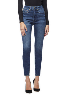 Good American Good Legs High Waist Ankle Skinny Jeans (Blue 265) (Regular & Plus Size)