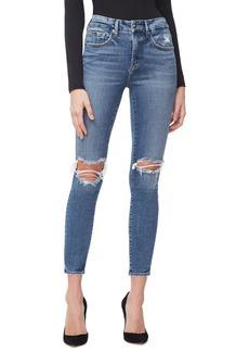 Good American Good Legs High Waist Crop Skinny Jeans (Blue 261) (Regular & Plus Size)