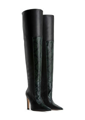 Good American The Koko Snake Embossed Over The Knee Boot (Women) (Nordstrom Exclusive)