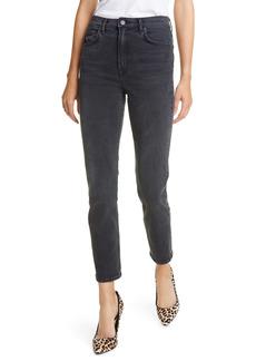 GRLFRND Reed High Waist Ankle Skinny Jeans (Black Rain)