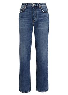GRLFRND Helena High-Rise Straight-Leg Jeans