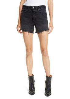 GRLFRND Jourdan Fray Hem Denim Shorts