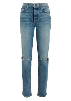 GRLFRND Karolina Distressed High-Rise Jeans