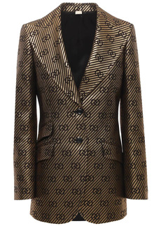Gucci All Over Logo Cotton & Silk Jacket