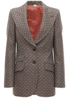 Gucci All Over Logo Jacquard Wool Jacket