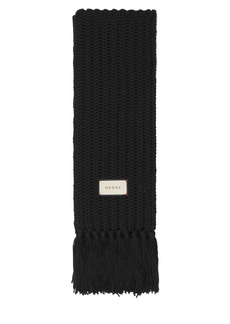 Gucci Bignabel Wool Blend Long Scarf