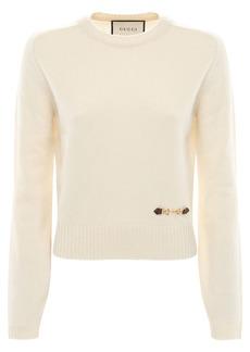 Gucci Cashmere Knit Sweater W/ Horsebit