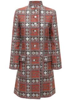 Gucci Check Gg Wool Tweed Coat