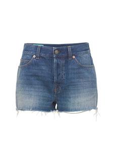 Gucci Cotton Denim Shorts W/ Embroidery
