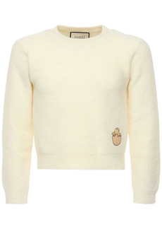 Gucci Embroidered Patch Wool Knit Sweater