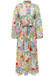 Gucci Flower Printed Silk Dress W/ Belt