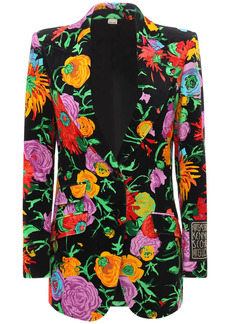 Gucci Flower Printed Stretch Cotton Jacket