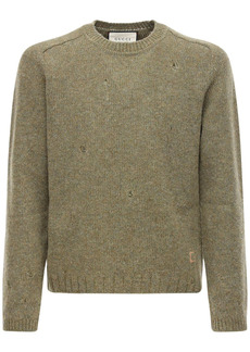 Gucci G Embroidery Destroyed Wool Sweater