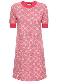 Gucci Gg Jacquard Knit Wool & Cotton Dress