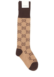 Gucci Gg Jacquard Logo Cotton Blend Socks