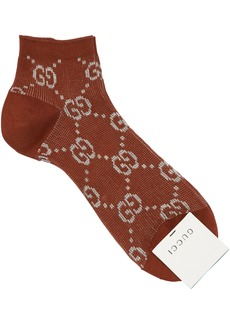 Gucci Gg Lurex Jacquard Socks