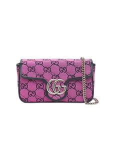 Gucci Gg Marmont Canvas Matelassé Shoulder Bag