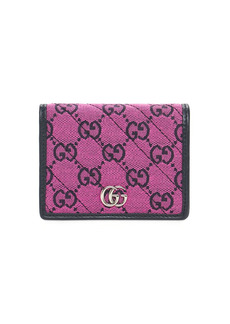 Gucci Gg Marmont Matelassé Canvas Wallet