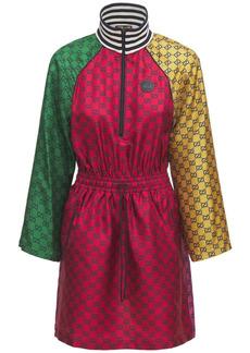 Gucci Gg Multicolor Silk Canvas Dress