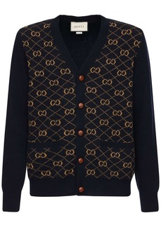 Gucci Gg Wool Jacquard Knit Cardigan