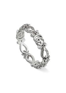 Gucci 18K White Gold & Diamond Flora Ring