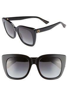 Gucci 51mm Cat Eye Sunglasses