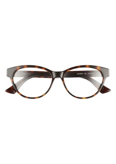 Gucci 54mm Round Optical Glasses