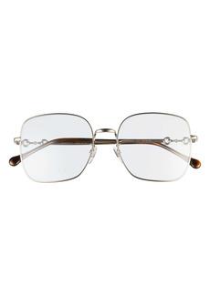 Gucci 55mm Square Flat Front Optical Glasses