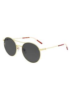 Gucci 56mm Round Aviator Sunglasses