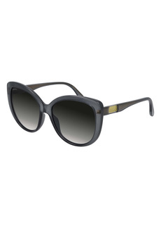 Gucci 57mm Gradient Cat Eye Sunglasses